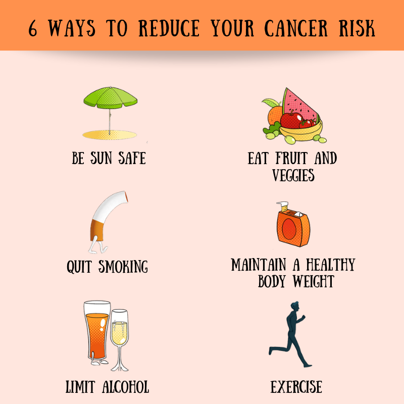 6 ways to reduce your cancer risk